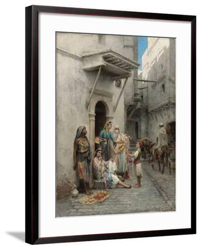 The Young Flower Seller; Le Jeune Marchand De Fleurs-Pierre Outin-Framed Art Print