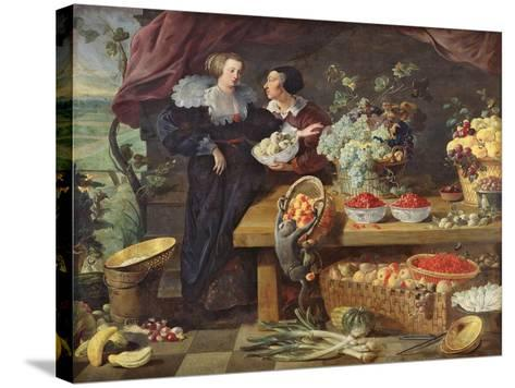 The Fruit Seller-Pierre Boucle-Stretched Canvas Print