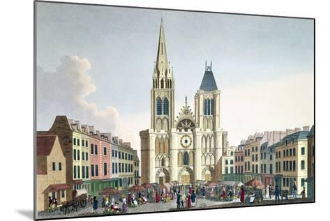 View of the Facade of the Church of Saint-Denis Near Paris, C.1820-Pierre Courvoisier-Mounted Giclee Print