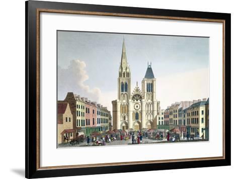 View of the Facade of the Church of Saint-Denis Near Paris, C.1820-Pierre Courvoisier-Framed Art Print