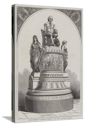 Plaster Monument of Shakespeare, Modelled by the Late J E Thomas-R. Dudley-Stretched Canvas Print