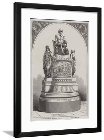 Plaster Monument of Shakespeare, Modelled by the Late J E Thomas-R. Dudley-Framed Art Print