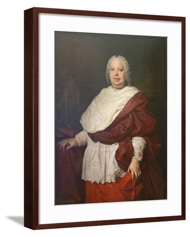Portrait of Cardinal Silvio Valenti Gonzaga, C.1745-Pierre Subleyras-Framed Art Print