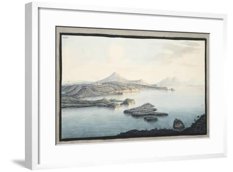 A Bird's Eye View of the Territory Raised by Volcanic Explosions-Pietro Fabris-Framed Art Print