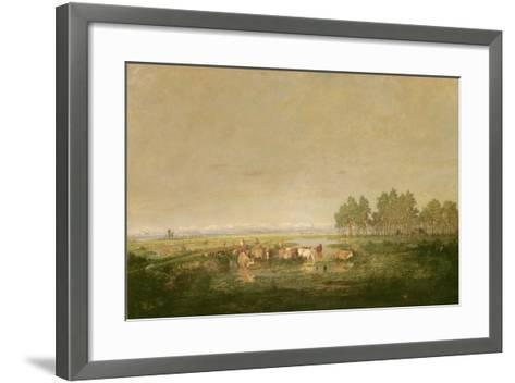 Marshland in Les Landes, C.1853-Pierre Etienne Theodore Rousseau-Framed Art Print