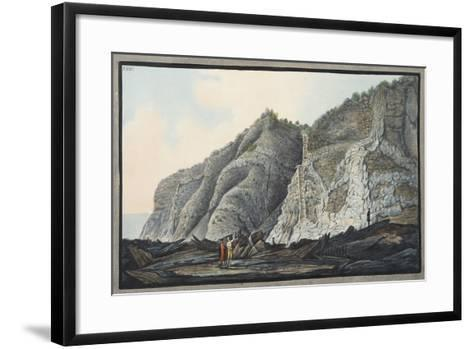 View of a Part of the Inside of the Cone of the Mountain of Somma-Pietro Fabris-Framed Art Print