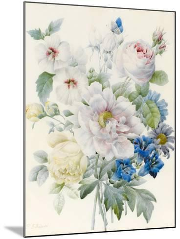 A Bunch of Flowers Including a Peony-Pierre Joseph Redoute-Mounted Giclee Print