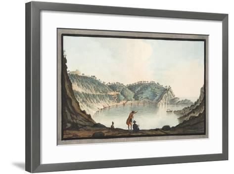 View of the Porto Pavone in the Island of Nisida-Pietro Fabris-Framed Art Print