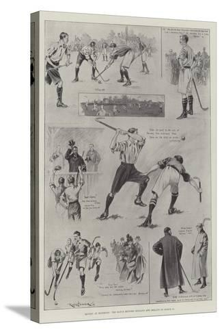Hockey at Richmond, the Match Between England and Ireland on 11 March-Ralph Cleaver-Stretched Canvas Print