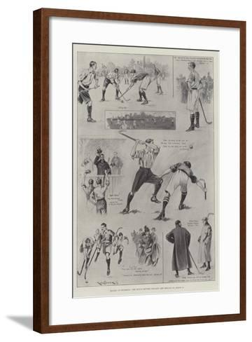 Hockey at Richmond, the Match Between England and Ireland on 11 March-Ralph Cleaver-Framed Art Print