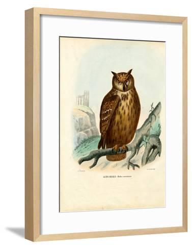 Eurasian Eagle Owl, 1863-79-Raimundo Petraroja-Framed Art Print