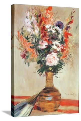 Roses in a Vase, 1872-Pierre-Auguste Renoir-Stretched Canvas Print