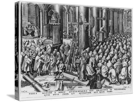 Faith, Engraved by Hieronymus Cock (C.1510-70)-Pieter Bruegel the Elder-Stretched Canvas Print