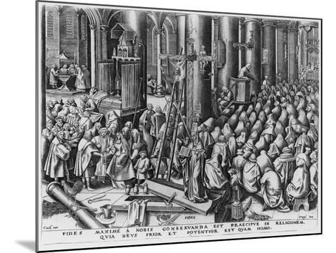Faith, Engraved by Hieronymus Cock (C.1510-70)-Pieter Bruegel the Elder-Mounted Giclee Print