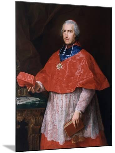 Portrait of Jean-François-Joseph Rochechouart, 1762-Pompeo Girolamo Batoni-Mounted Giclee Print