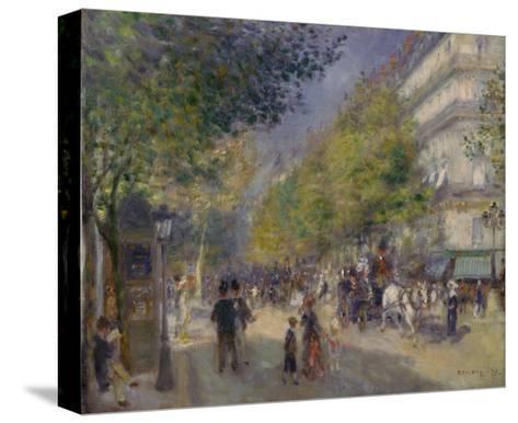 The Boulevards (Les Grands Boulevards), 1875-Pierre-Auguste Renoir-Stretched Canvas Print