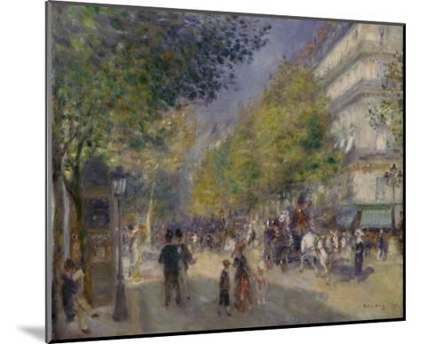 The Boulevards (Les Grands Boulevards), 1875-Pierre-Auguste Renoir-Mounted Giclee Print