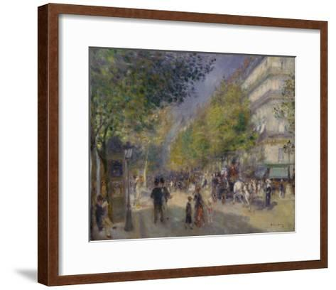 The Boulevards (Les Grands Boulevards), 1875-Pierre-Auguste Renoir-Framed Art Print