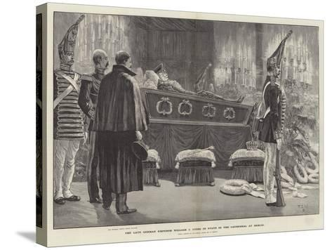 The Late German Emperor William I Lying in State in the Cathedral at Berlin-Richard Caton Woodville II-Stretched Canvas Print