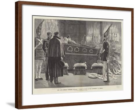 The Late German Emperor William I Lying in State in the Cathedral at Berlin-Richard Caton Woodville II-Framed Art Print