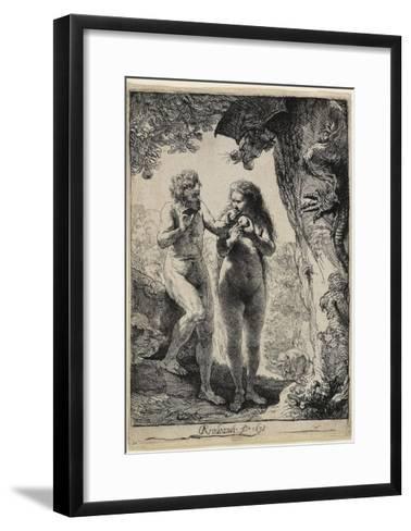 Adam and Eve, 1638-1658-Rembrandt van Rijn-Framed Art Print