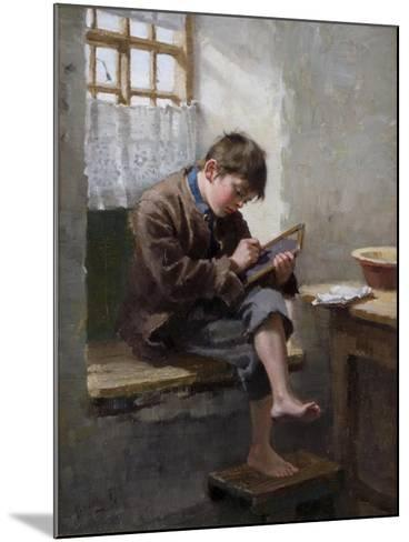 Home Lessons, 1887-Ralph Hedley-Mounted Giclee Print