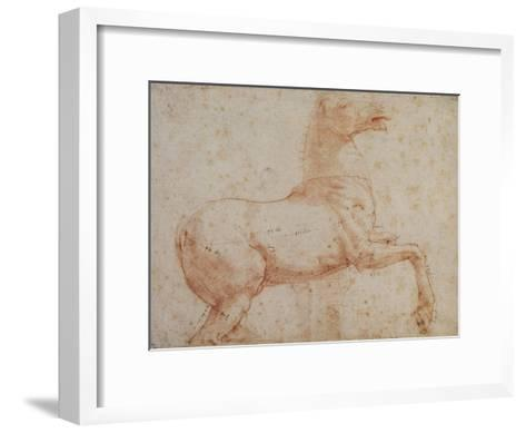 Study of One of the Quirinal Marble Horses, C.1515-17-Raphael-Framed Art Print