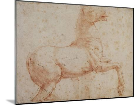 Study of One of the Quirinal Marble Horses, C.1515-17-Raphael-Mounted Giclee Print