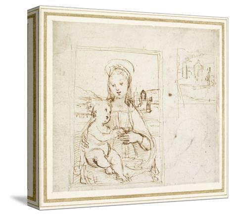 Study for a Picture of the Virgin and Child-Raphael-Stretched Canvas Print