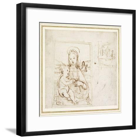 Study for a Picture of the Virgin and Child-Raphael-Framed Art Print