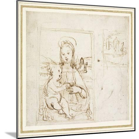 Study for a Picture of the Virgin and Child-Raphael-Mounted Giclee Print