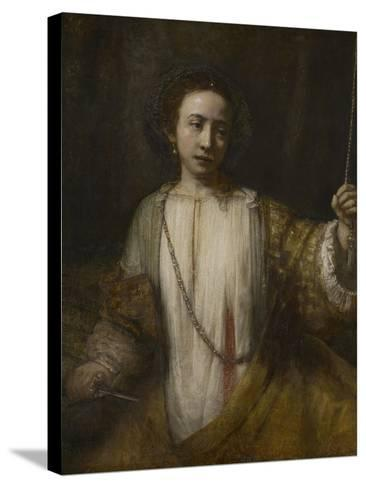 Lucretia, 1666-Rembrandt van Rijn-Stretched Canvas Print