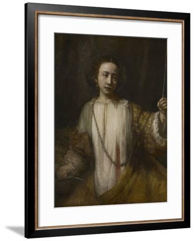 Lucretia, 1666-Rembrandt van Rijn-Framed Art Print