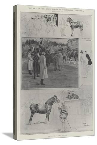 The Sale of the King's Horses at Sandringham, 4 February-Ralph Cleaver-Stretched Canvas Print