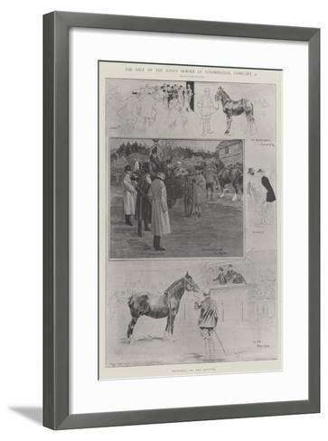 The Sale of the King's Horses at Sandringham, 4 February-Ralph Cleaver-Framed Art Print