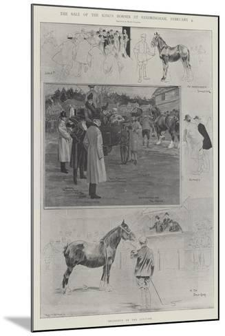 The Sale of the King's Horses at Sandringham, 4 February-Ralph Cleaver-Mounted Giclee Print