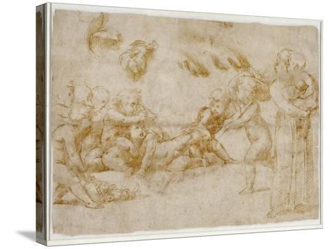 Amorini at Play-Raphael-Stretched Canvas Print