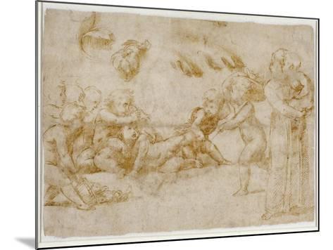 Amorini at Play-Raphael-Mounted Giclee Print