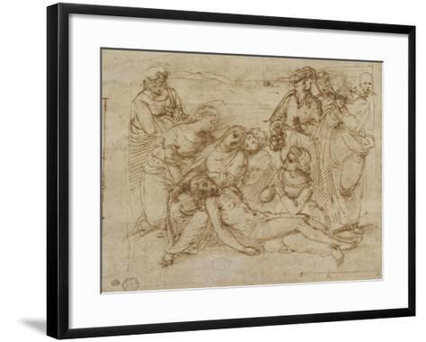 The Lamentation-Raphael-Framed Art Print
