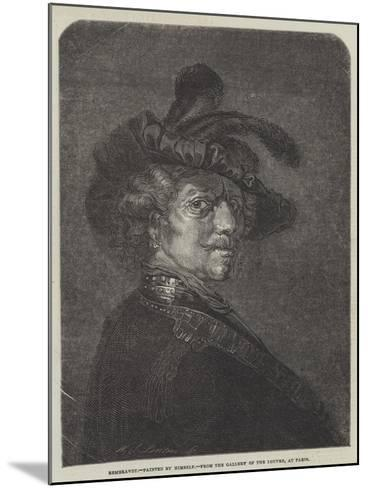 Rembrandt-Rembrandt van Rijn-Mounted Giclee Print