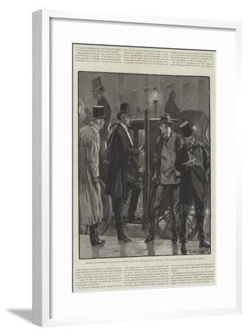 Cynic Fortune, a Tale of a Man with a Conscience, by David Christie Murray-Richard Caton Woodville II-Framed Art Print