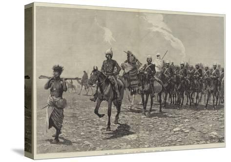 The Nile Expedition, a Column of Troops Starting across the Desert-Richard Caton Woodville II-Stretched Canvas Print
