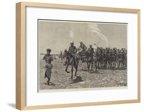 The Nile Expedition, a Column of Troops Starting across the Desert-Richard Caton Woodville II-Framed Art Print