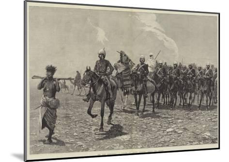 The Nile Expedition, a Column of Troops Starting across the Desert-Richard Caton Woodville II-Mounted Giclee Print