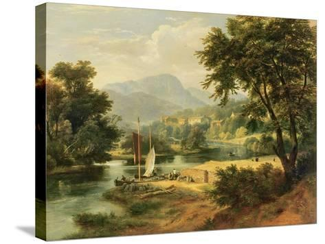 View of Clappersgate on the River Brathay Above Windermere-Ramsay Richard Reinagle-Stretched Canvas Print