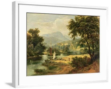View of Clappersgate on the River Brathay Above Windermere-Ramsay Richard Reinagle-Framed Art Print