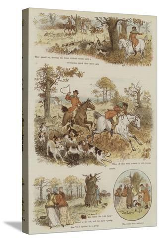 The Legend of the Laughing Oak-Randolph Caldecott-Stretched Canvas Print