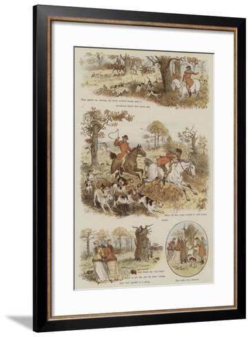 The Legend of the Laughing Oak-Randolph Caldecott-Framed Art Print