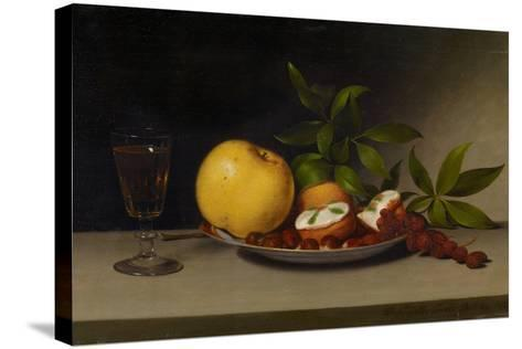 Still Life with Fruit, Cakes and Wine, 1821-Raphaelle Peale-Stretched Canvas Print