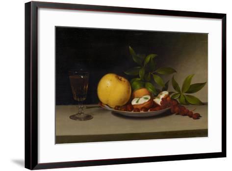 Still Life with Fruit, Cakes and Wine, 1821-Raphaelle Peale-Framed Art Print
